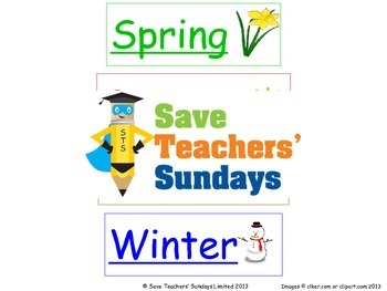 Seasons flash cards / flashcards