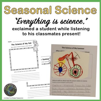 Seasons Writing- Science of my Fall, Winter, Spring, and Summer