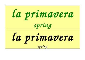 Seasons Calendar in Italian