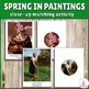 Seasons in Paintings Close-Up Matching Activities Bundle