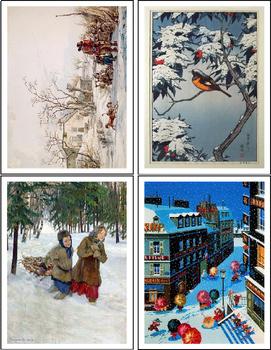 Seasons in Paintings Montessori Art Sorting Cards