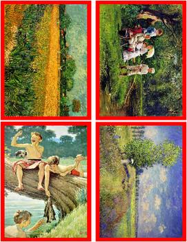 Seasons in Paintings Art Sorting Cards