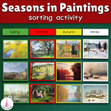 Seasons in Paintings Montessori Art Sorting Cards