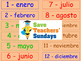 Seasons in Spanish Lesson plan, PowerPoint (with audio) Flashcards & Worksheets