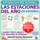 Seasons in Spanish Reading Activities - Las estaciones del año