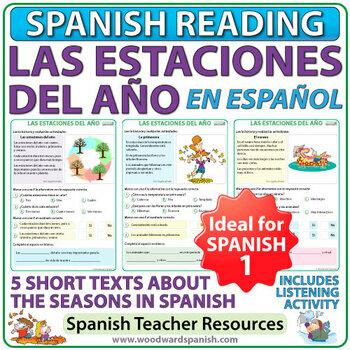Seasons in Spanish Reading Activities - Las estaciones del año