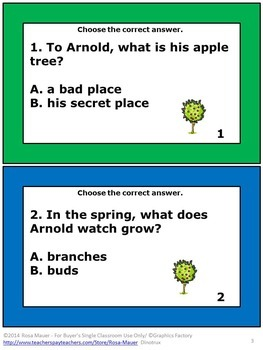 The Seasons of Arnold's Apple Tree Literacy Unit