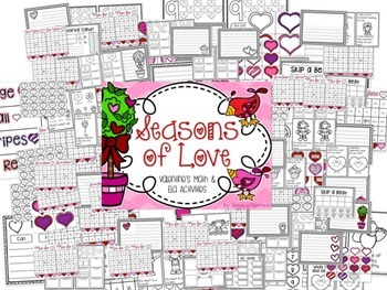 Valentines Day: Seasons of Love Math and Literacy Activities