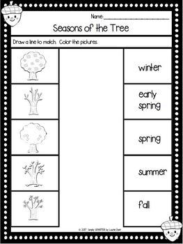 Seasons of the Tree:  LOW PREP Emergent Reader AND Interactive Activities