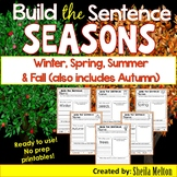Seasons Build the Sentence -Winter, Spring, Summer & Fall - also includes Autumn