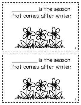 Seasons of the Year Interactive Mini Books