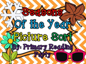 Seasons of the Year Picture Sort
