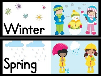 Seasons Posters and Signs for Word Walls