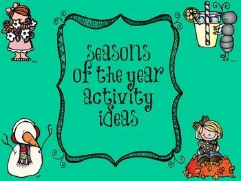 Seasons of the Year Activity Ideas