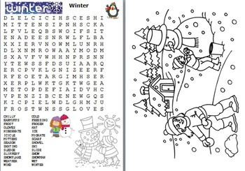 Seasons of the Year Word Search Pack