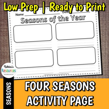 seasons of the year worksheet by katrina 39 s resources tpt. Black Bedroom Furniture Sets. Home Design Ideas