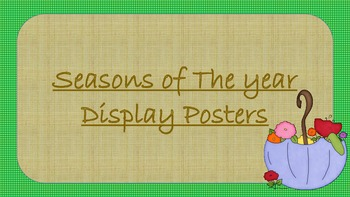 Seasons of the year display posters