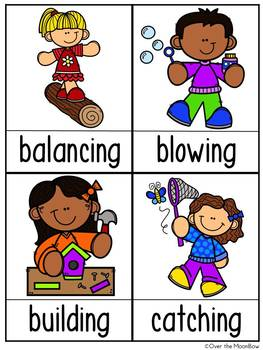 Seasons on the Go Bundle | Grammar On the Go | Verbs Write the Room Activities