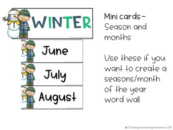 Seasons posters and cards pack