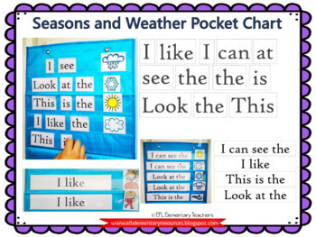 Seasons resources for Elementary ELL