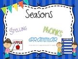 Seasons {spelling, grammar, and phonics practice}