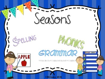 Seasons {spelling, grammar, and phonics practice}