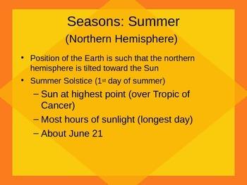 Seasons & the Earth's Tilt Powerpoint