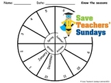 Seasons wheels Lesson plan, Flashcards and Worksheets
