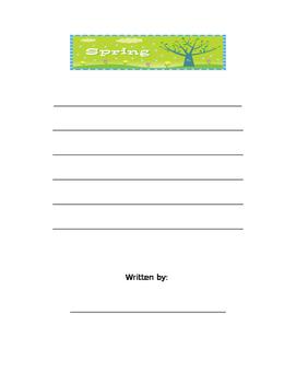 Seasons writing paper and rubric