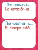 Seasons/Weather for Calendar Wall {Bilingual}