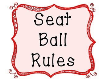 Seat Ball Rules- Posters and Student Book