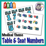 Seat & Desk Numbers - Medical Detective Theme