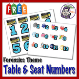 Seat & Desktop Numbers - Forensic Science Themed