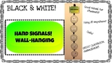 Seat Hand Signals - Wall Hanging / Decor (Black & White!)