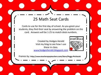 Seat Match (Math)
