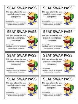 Seat Swap Pass (Editable)