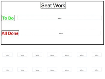 Seat Work - Visual Sequence Schedule