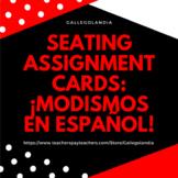Seating Assignment Cards—Modismos en español