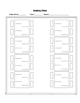 Seating Chart - 2 Column Tables