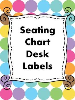 Seating Chart Desk Labels