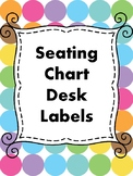 Seating Chart Desk Labels