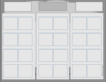 Seating Charts 3 color options (fully editable) 24 desks