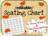 {EDITABLE} SEATING CHART and  HW Log