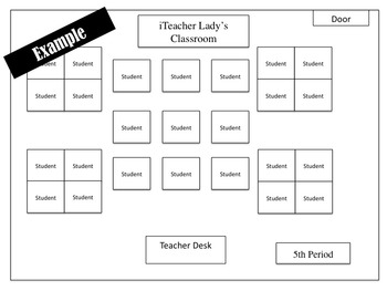 Classroom Seating Chart- *Editable!* for Any Classroom!