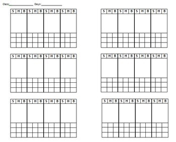 FREE Seating Chart- Elementary Music