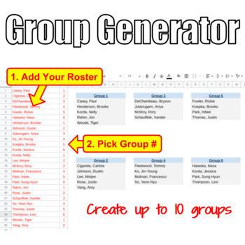 Seating Chart & Group Generator