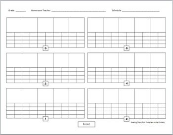 All-in-One Seating Chart Roll Template for Music (and other) Classes - Editable