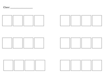 Seating Chart Template