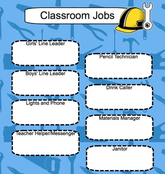 Seating Chart and Job Chart