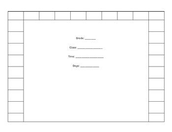 Seating Chart for Elementary Music